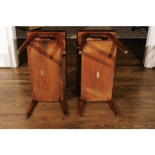 Ficks Reed Rare Restored Pair of End Tables by John Wisner for Ficks Reed, Circa 1954 For Sale - Image 4 of 13