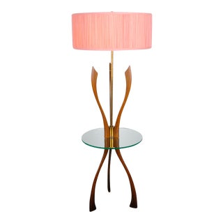 1960's Mid-Century Modern Walnut Floor Lamp For Sale