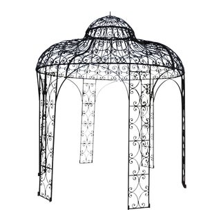 Mediterranean Style Wrought Iron Gazebo For Sale