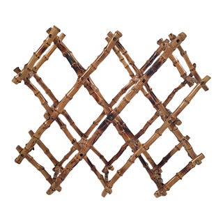 Collapsible Bamboo Wine Rack For Sale