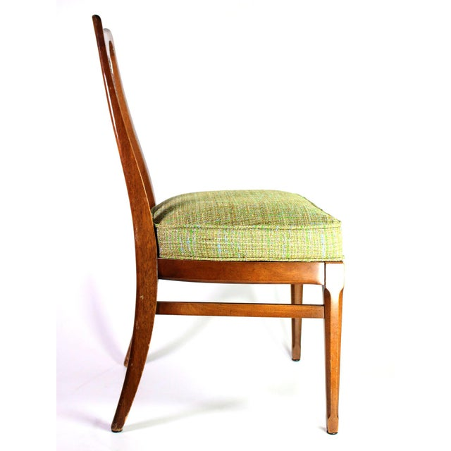 Mid-Century Modern Baker Walnut Mid Century Modern Cane Backed Dining Chairs - Set of 6 For Sale - Image 3 of 12