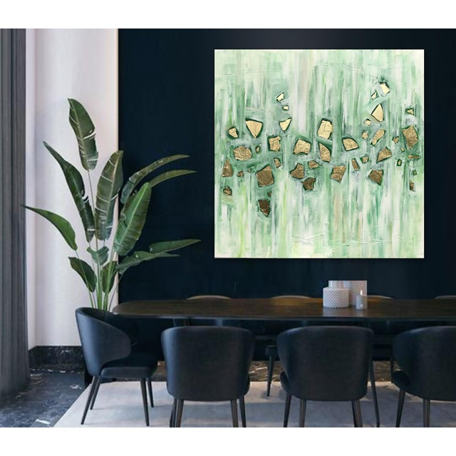 Abstract 'Viridescence' Original Abstract Painting by Linnea Heide For Sale - Image 3 of 10