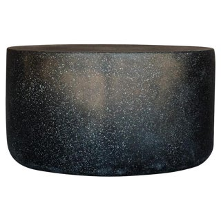 Cast Resin 'Millstone' Coffee Table, Coal Stone Finish by Zachary A. Design For Sale