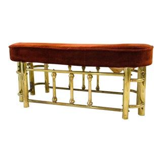 Brass Ottoman or Fireside Bench