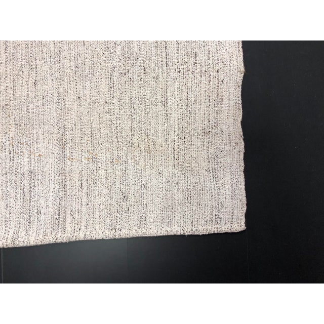 1960s Vintage Turkish Nomadic Kilim Handmade Wool Rug - 6′1″ × 7′10″ For Sale - Image 10 of 11