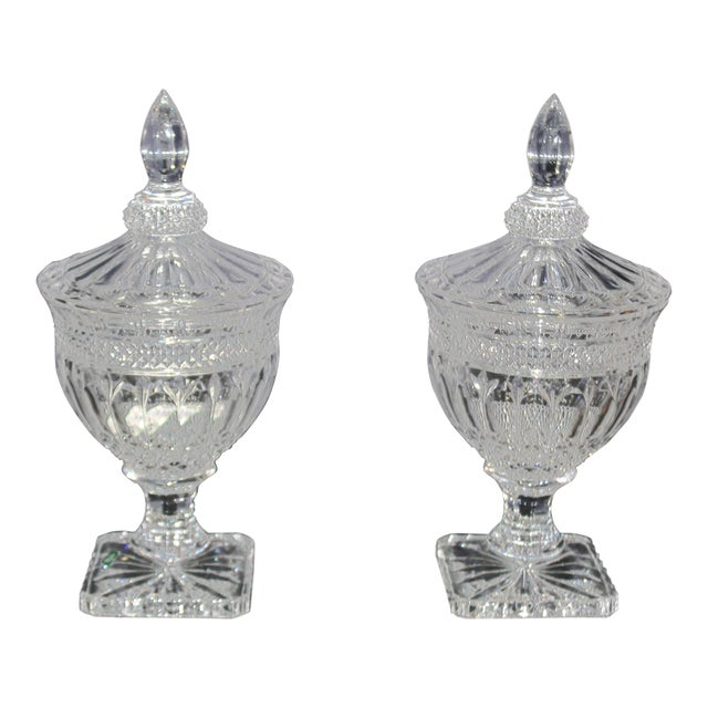 Irish Crystal Candy Dishes- A Pair For Sale