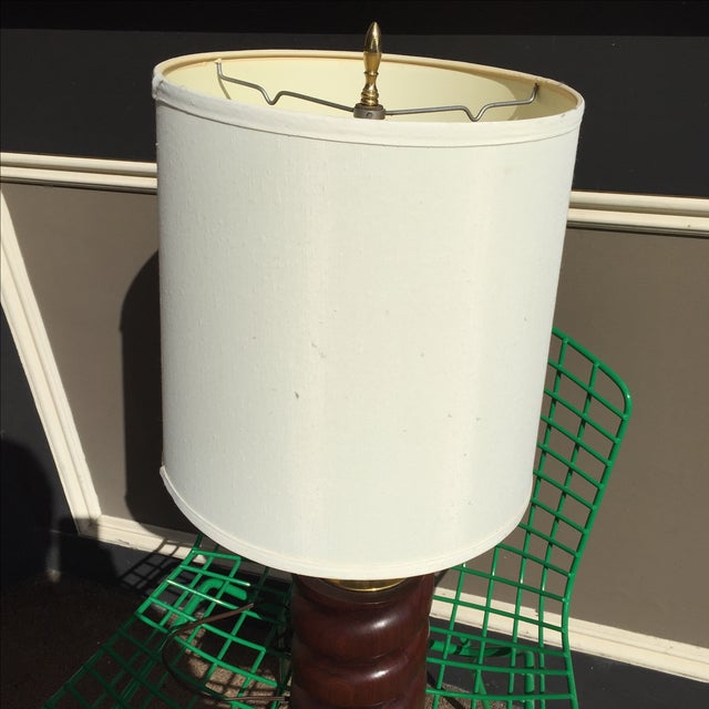 Spiral Carved Wood Table Lamp - Image 4 of 7