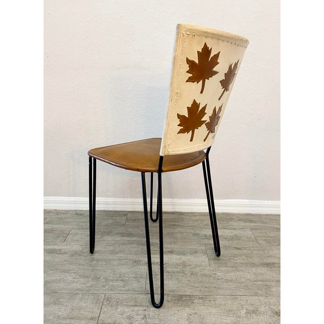Pair of Willow Dining Chairs For Sale - Image 6 of 8