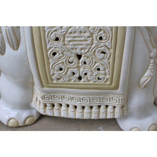 Mid-Century Elephant Garden Seat Stool - Image 8 of 10
