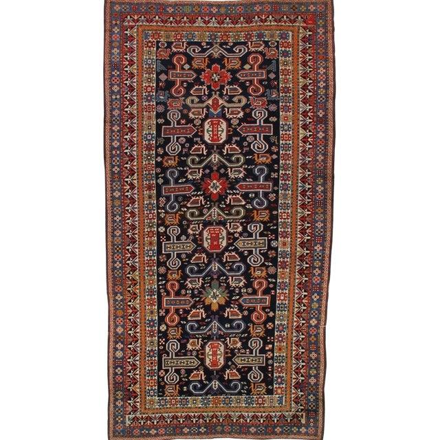 Antique Persian Caucasian Kazak For Sale