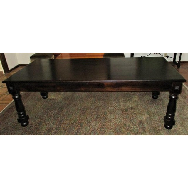 2010s Dining Table Rectangular Rustic Modern Farm Style Seats 8 For Sale - Image 5 of 8