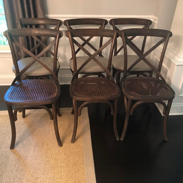 """Restoration hardware dining chairs. Max width 18.5"""" (seat width 17"""") X max depth 17"""" x 35"""" h From the website: Modeled..."""
