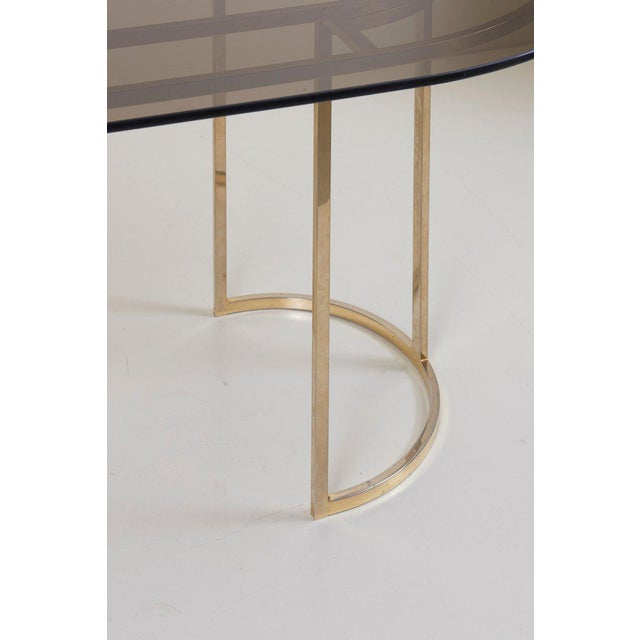 1970s Huge Brass and Glass Dining Table by Romeo Rega For Sale - Image 5 of 8