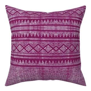 Evil Eye: Fuchsia Hmong Pillow Cover 16x16 For Sale