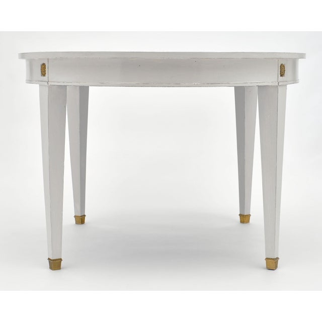 Metal Directoire Style Painted Dining Table For Sale - Image 7 of 9