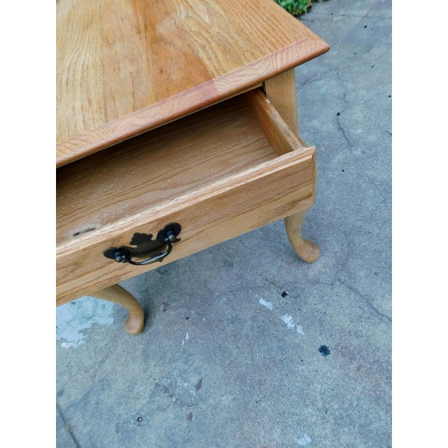 Rustic Rustic White Oak Side Table For Sale - Image 3 of 6