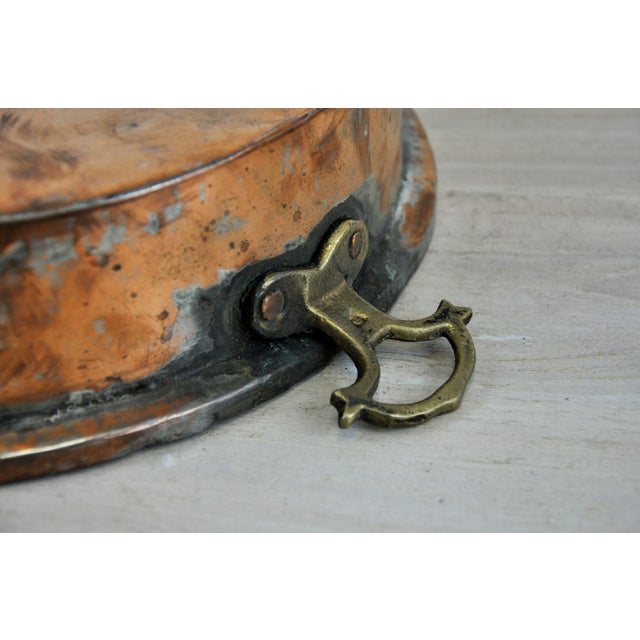 Oval Antique Copper Bowl For Sale - Image 9 of 11