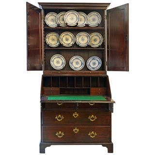 Charming Late 18th Century George Iii Mahogany Secretary Bookcase