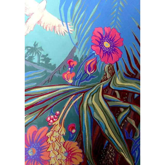 Children's Tropical Bird 3 Original Painting For Sale - Image 3 of 6