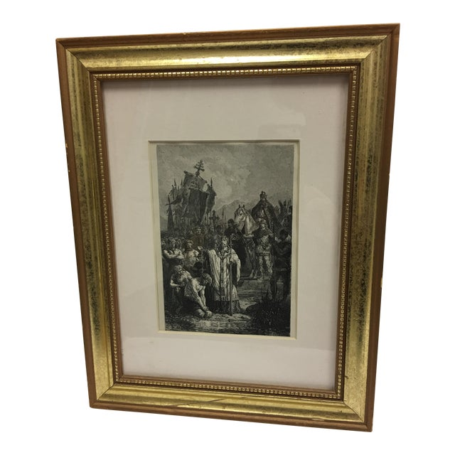19th Century Book Biblical Story Etching For Sale