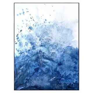 Watercolor Blue Salt Painting - 40 52
