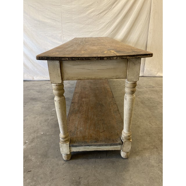 Early 19th Century Rustic French Farm Console Table - 19th C For Sale - Image 5 of 12