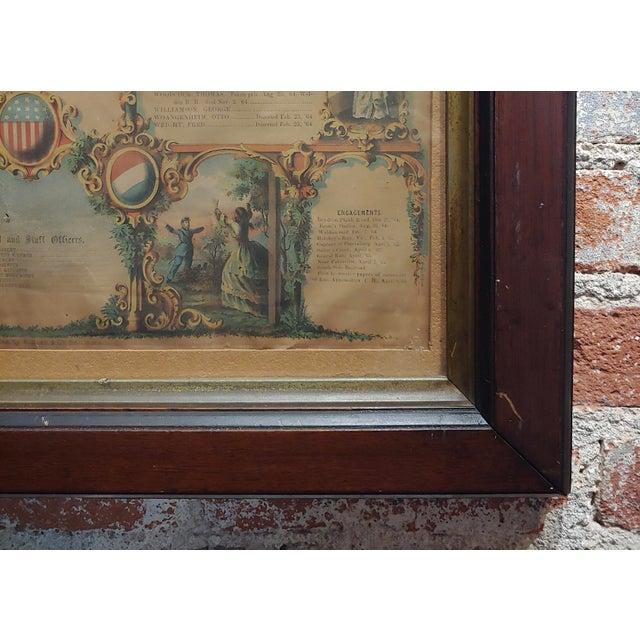 Glass Civil War 1864 Military Register Pennsylvania Company E Manifesto For Sale - Image 7 of 9
