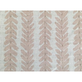 Transitional Pink Schumacher Woodperry Fabric For Sale