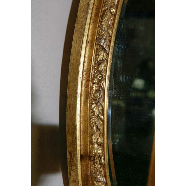 Giltwood French Gilt Mirror with Love Birds For Sale - Image 7 of 8