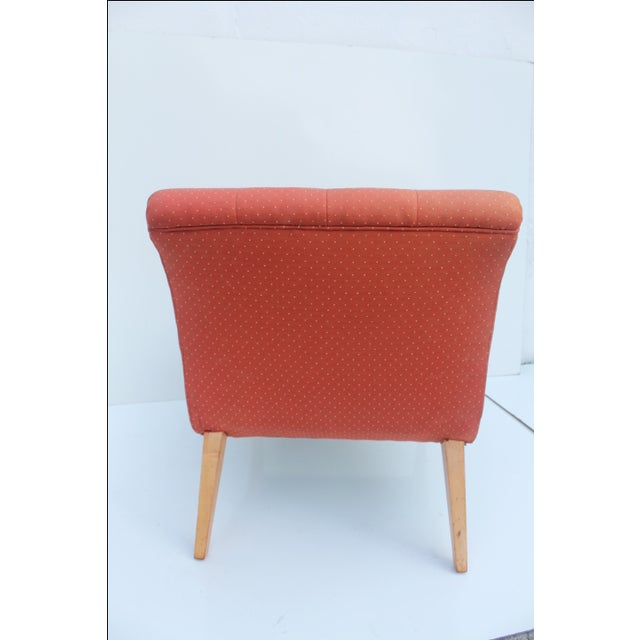 Red Jens Risom for Knoll Red Slipper Chair For Sale - Image 8 of 11