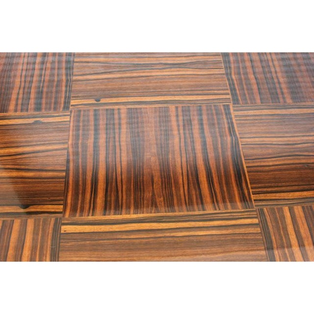 1940s Vintage French Art Deco Macassar Ebony Game Table For Sale In Miami - Image 6 of 11