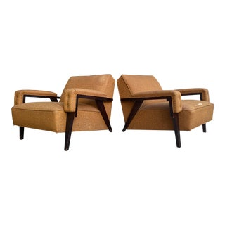 Mid Century Low Modern Lounge Chairs - a Pair For Sale