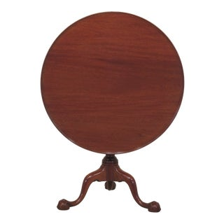 1970s Vintage Kittinger Ball & Claw Mahogany Colonial Williamsburg Table For Sale