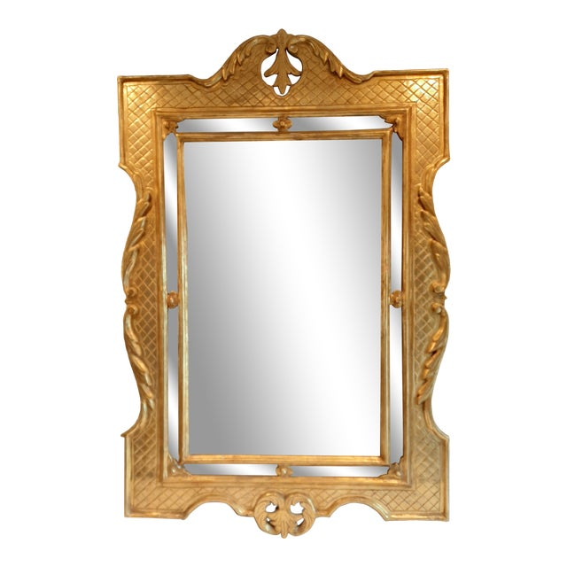 Italian Florentine Gilt Wood Mirror For Sale