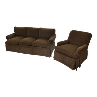 Charles Stewart Sofa and Chair - a Pair For Sale