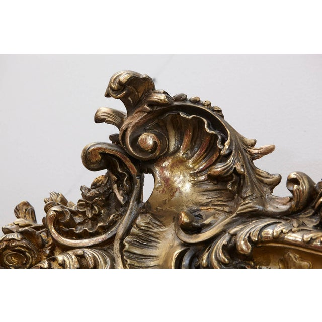 19th Century French Rococo Mirror With Beveled Glass For Sale In New York - Image 6 of 11