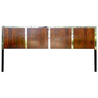 John Stuart Rosewood & Chrome King Headboard