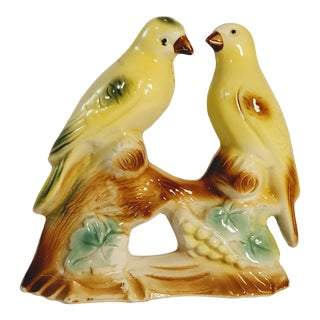 Vintage Yellow Birds Figurines from Brazil - a Pair For Sale