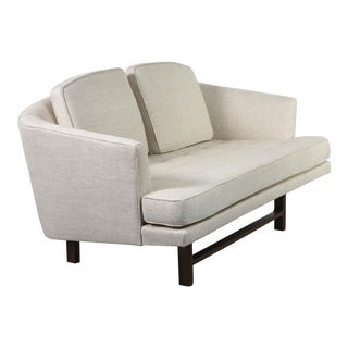 Edward Wormley for Dunbar Settee With Mahogany Base, Circa 1956 For Sale