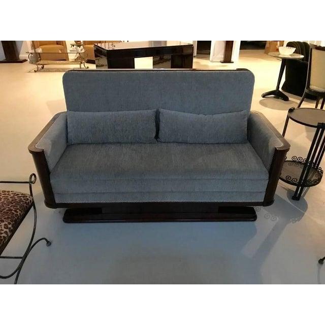 Art Deco Circa 1930 French Art Deco Macassar Sofa For Sale - Image 3 of 10