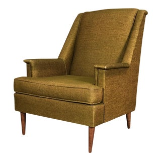 Green Tweed Mid-Century Modern Lounge Chair - Style Of Selig