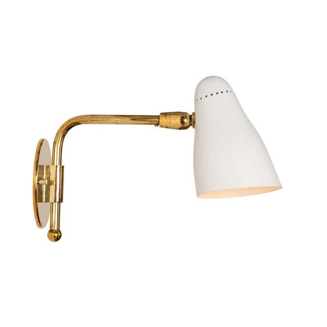 Mid-Century Modern 1950s Giuseppe Ostuni Articulating Arm Sconces for O-Luce - a Pair For Sale - Image 3 of 13
