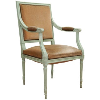 19th Century French Provincial Painted Chair For Sale
