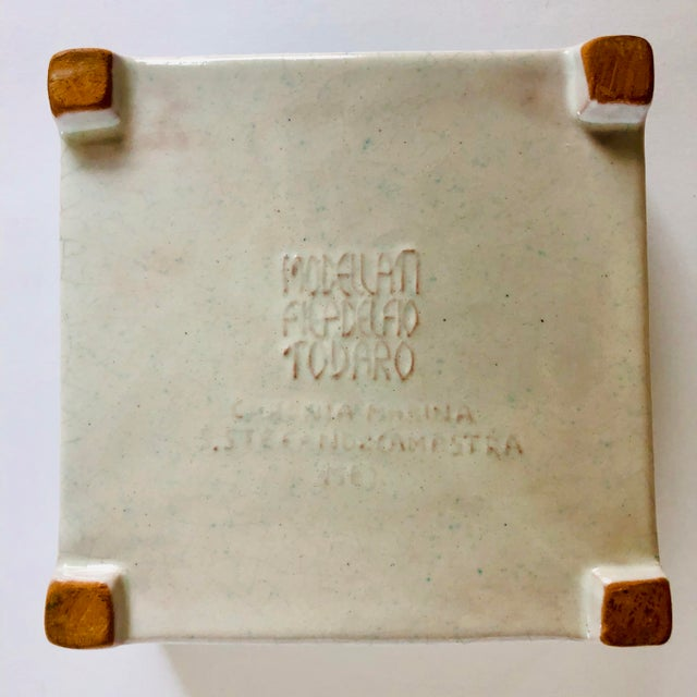 Vintage Italian Terra-Cotta Intaglio Trinket Box For Sale In Buffalo - Image 6 of 7