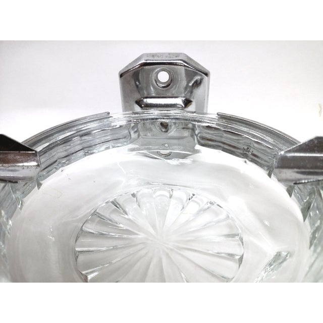 Deco Hotel Glass & Stainless Ashtray For Sale - Image 4 of 7