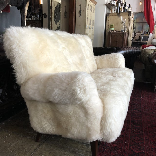 White Mongolian Wool Sofa For Sale - Image 11 of 13