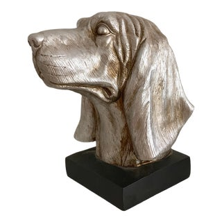 Labrador Golden Retriever Dog Head Figurine Bust For Sale