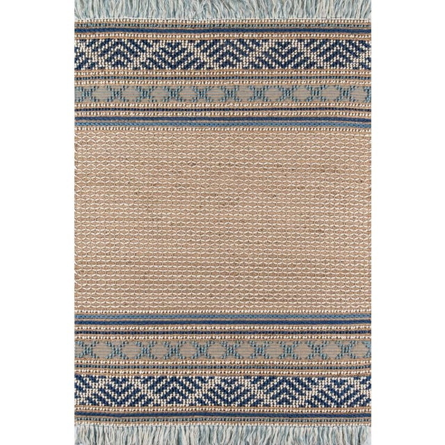 Esme Blue Hand Woven Area Rug 8' X 10' For Sale