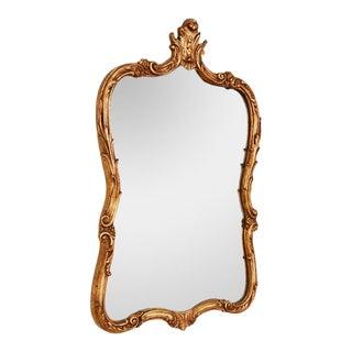 Antique Louis XV Style Parcel Gilt Foliate Wall Mirror For Sale