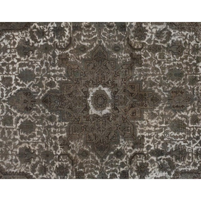 """Traditional Vintage Distressed Color Reform Silas Gray/Gray Wool Rug - 7'8"""" X 11'0"""" For Sale - Image 3 of 7"""
